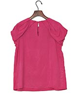 UNTITLED グロッシーデシンシャツ ピンク