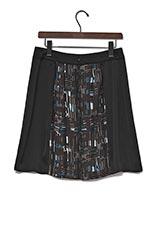 UNTITLED フォーカスチェックPT2スカート ブラック