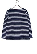 FORK&SPOON 起毛ボーダーカットソー NAVY×WHIT