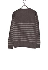 WARE HOUSE バスクボーダーニット D.GRY/GRY