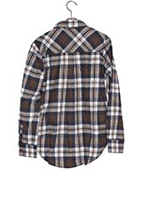 Sonny Label チェックネルシャツ BROWN