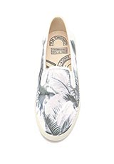 SENSE OF PLACE KEDS 別注 SLIP ON プリント 701 GY×BL