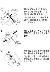 自動開閉折りたたみ傘 RAKURAKU インディゴ
