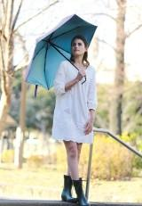 晴雨兼用自動開閉折りたたみ傘 UVオートマチック インディゴ
