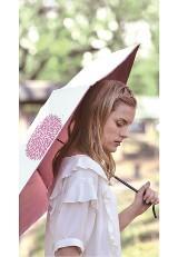 晴雨兼用折りたたみ傘 99.9% ホワイトクレマチス