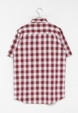 URBAN RESEARCH warehouse ブロックチェック 半袖BIGシャツ RED