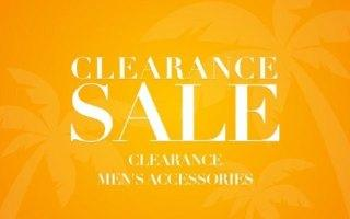 CLEARANCE MEN'S ACCESSORIES