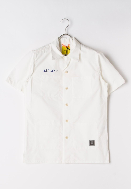 タイプライター開襟シャツ ホワイト - #1