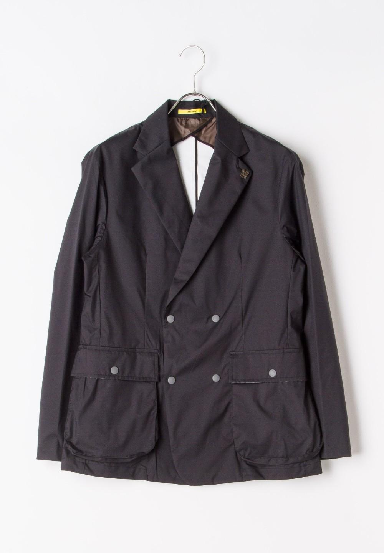 ナイロンダブルブレストジャケット ブラック - #1