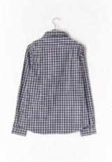 チェックワイドカラーシャツ BRN