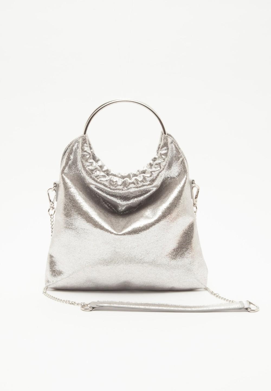 リングハンドルメタリックバッグ Silver - #1