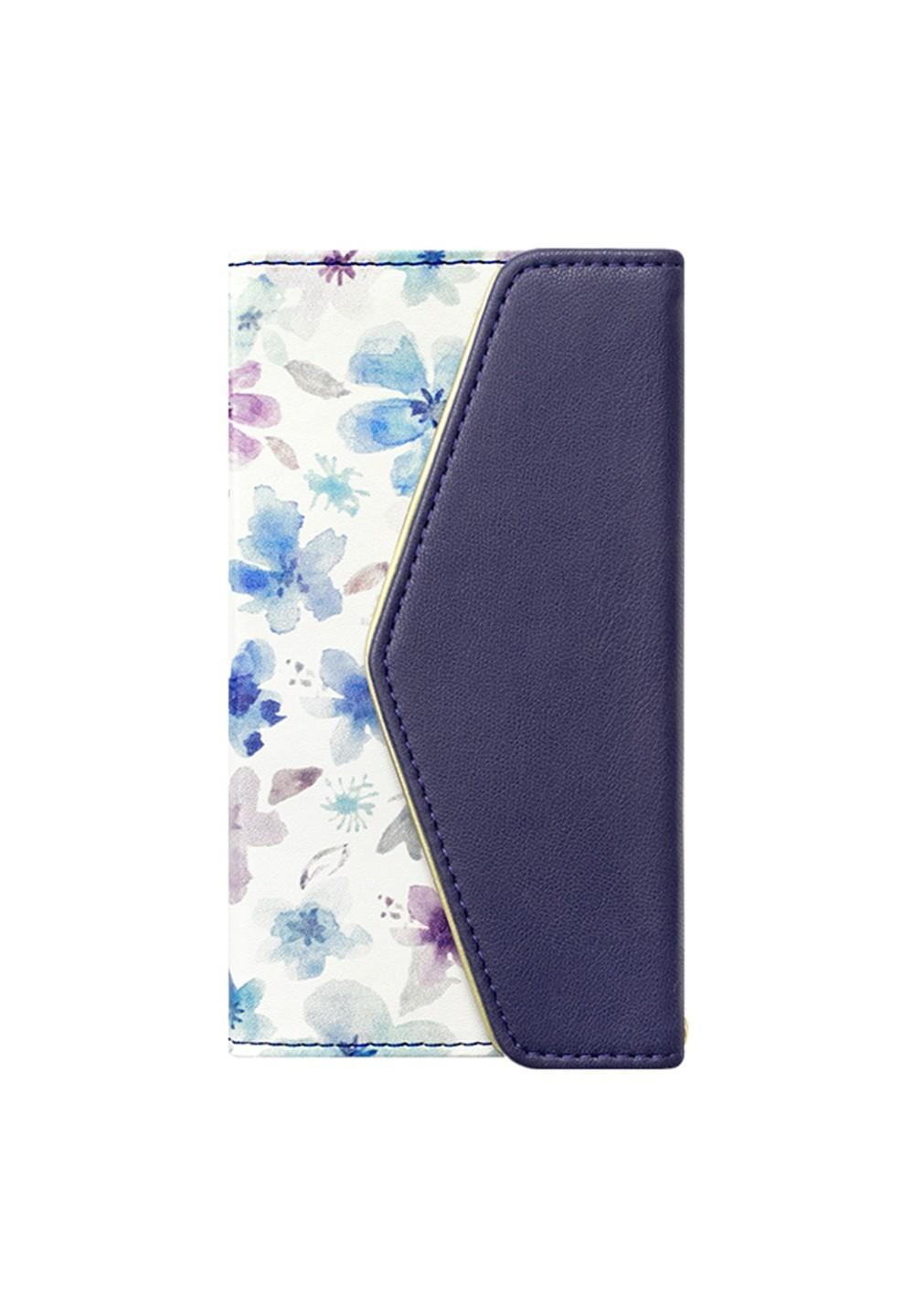 UNiCASE BLUE LABEL / Flower Series mirror case for iPhoneX(Watery Blue) - #1