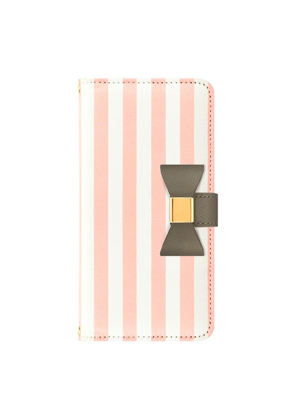 UNiCASE BLUE LABEL / Ribbon Diary Stripe for iPhone7/6s/6 Pink - #1