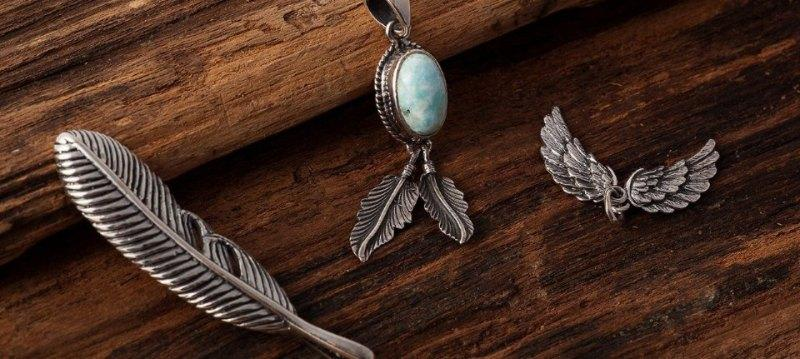 Feather Jewelry 925