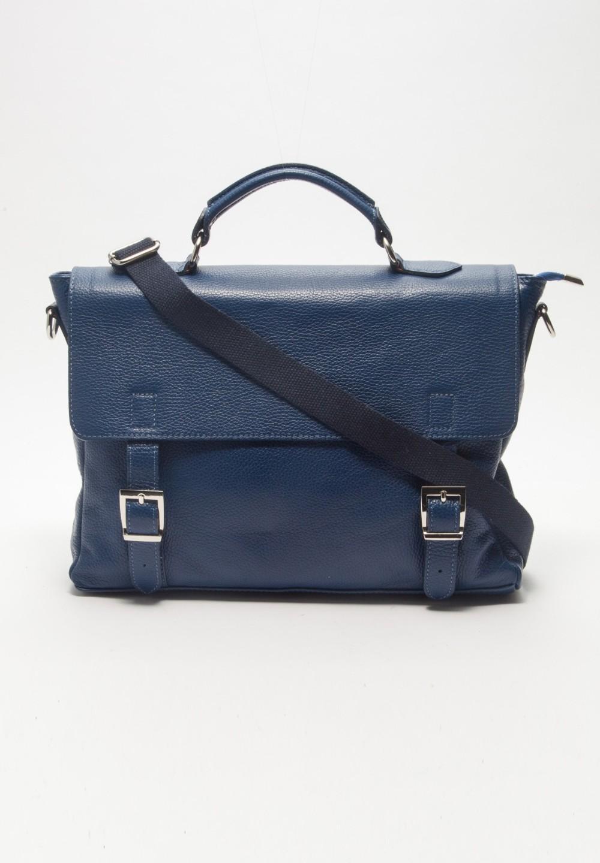 イタリアンカーフバッグ ブルー - #1