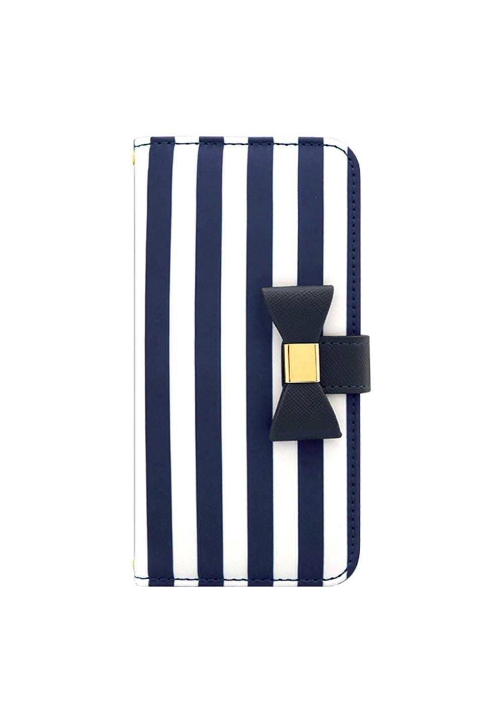 UNiCASE BLUE LABEL / Ribbon Diary Stripe for iPhone7/6s/6 Navy - #1