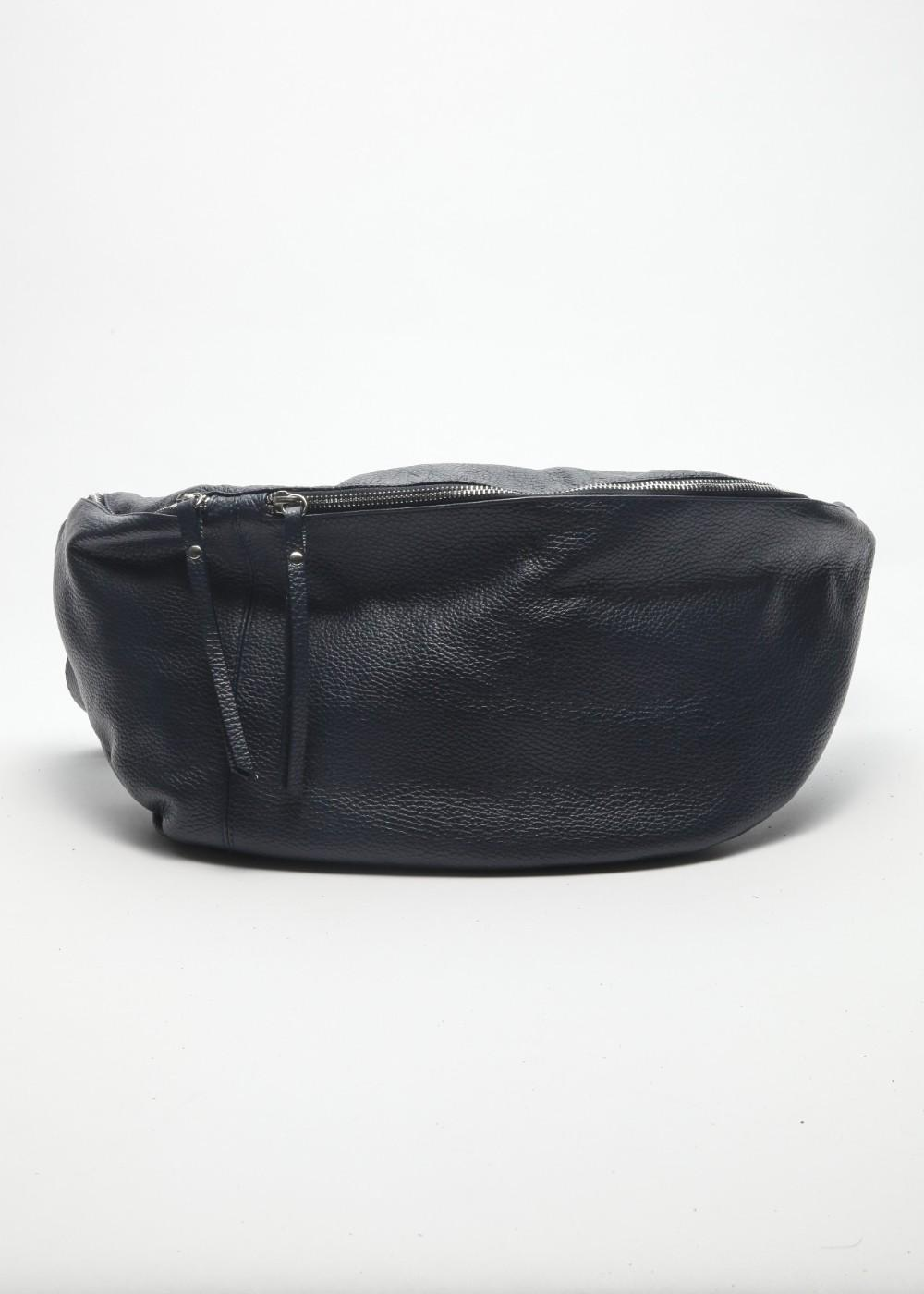 イタリアンカーフバッグ ネイビー - #1