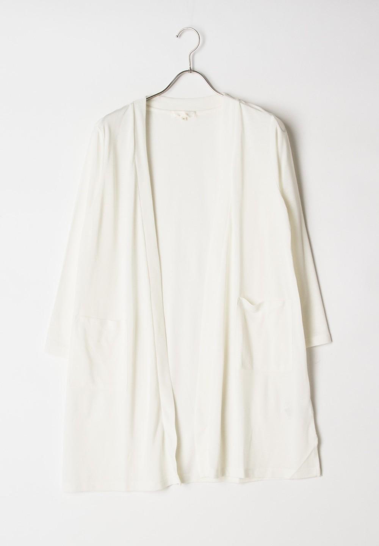 【GROVE】C梨地ロングCD七分袖 オフホワイト - #1