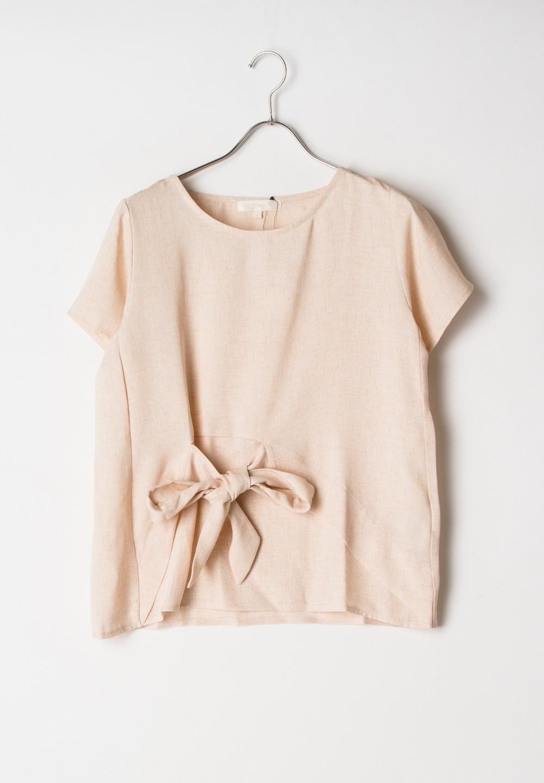 【GROVE】ツィード調アシメりぼんBL ピンク - #1