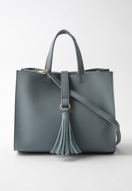 タッセルトートバッグ Blue - #1