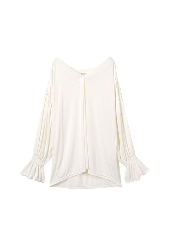 サンドウォッシュカットシャツ オフホワイト - #1
