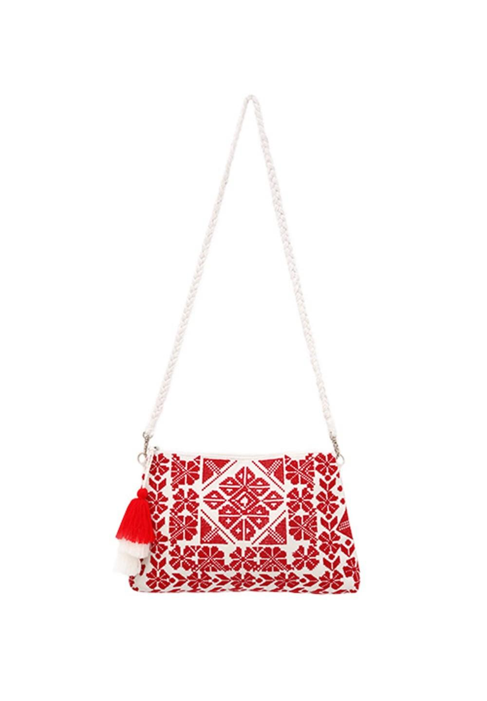 [Swaraj]EMBROIDERY CLUTCH レッド - #1