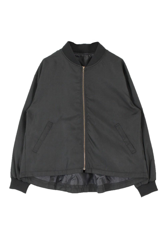 ベーシックブルゾン/MA-1  ブラック - #1