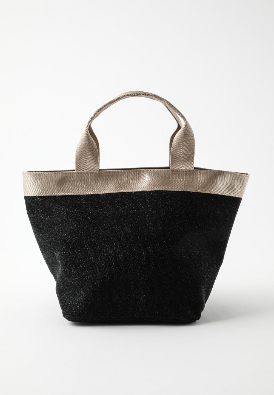 グリッター素材 トートバッグ Black - #1