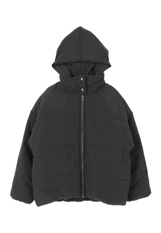 中綿フードブルゾン ブラック - #1