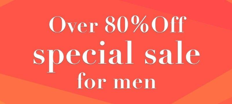 Over 80%Off special for men