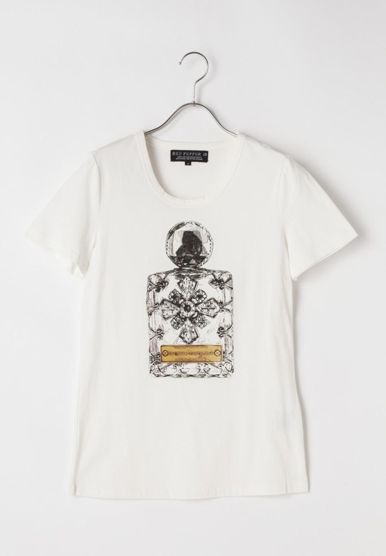 香水柄Tシャツ ホワイト - #1