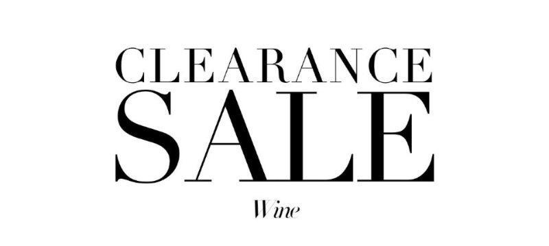Clearance sale:Wine