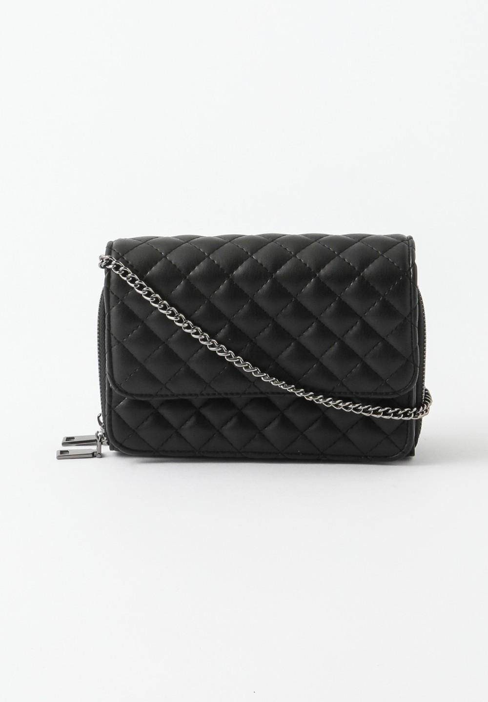 キルティングお財布ポシェット Black - #1