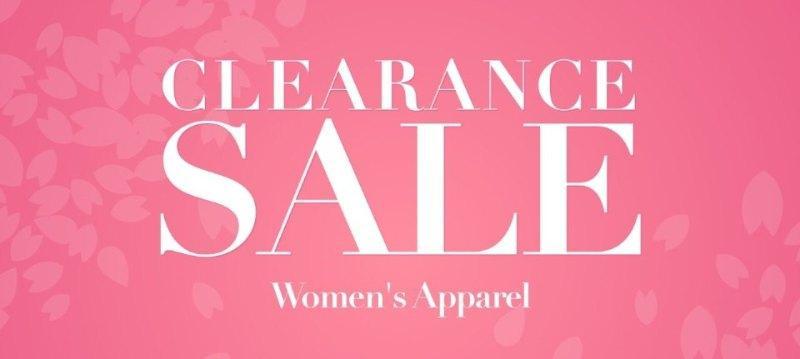 Clearance sale:Women's Apparel