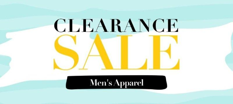 Clearance sale:Men's Apparel