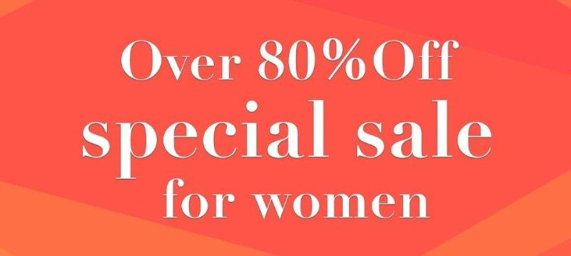 Over 80%Off special for women