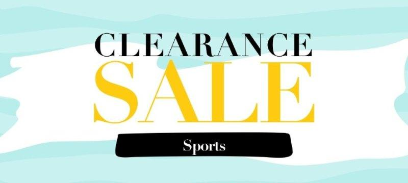 Clearance sale:Sports