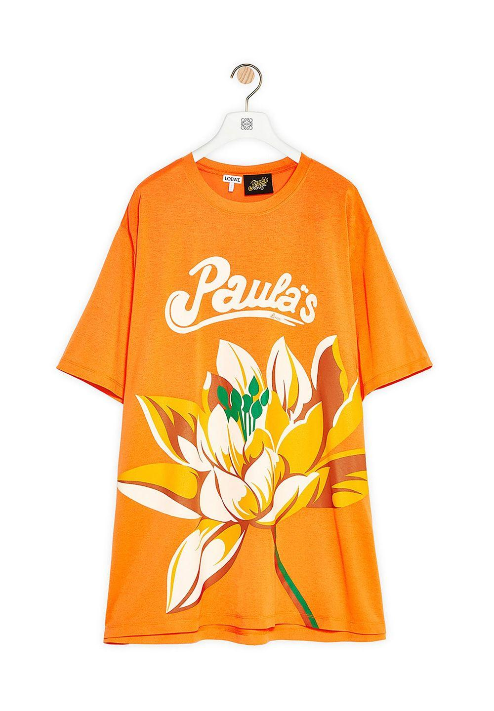 オーバーサイズ Tシャツ (ウォーターリリー  ポリエステル)     ネオンオレンジ - #1