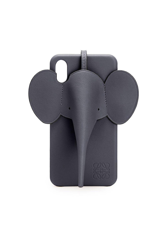 エレファント フォンカバー iPhone XS MAX 用 (クラシック カーフスキン)     ディープブルー - #1