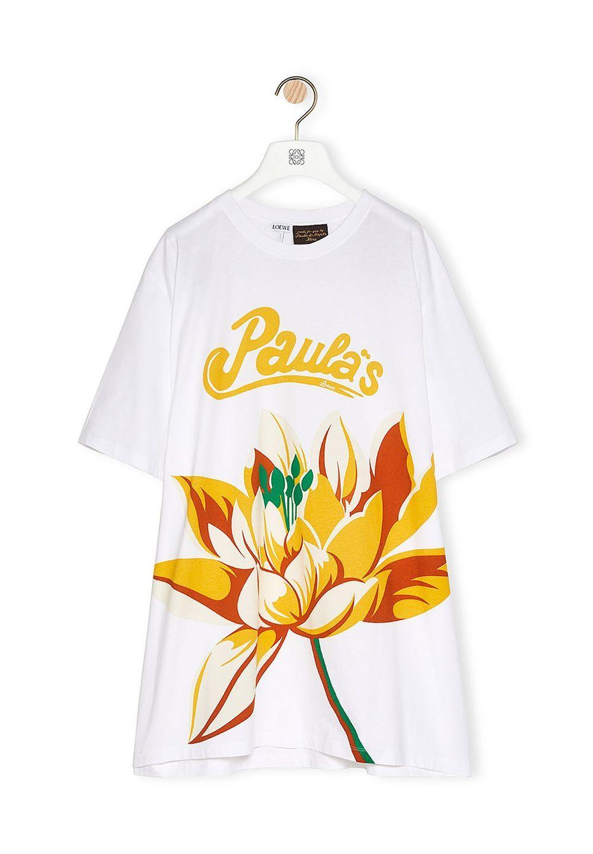 オーバーサイズ Tシャツ (ウォーターリリー コットン&シルク)     ホワイト - #1