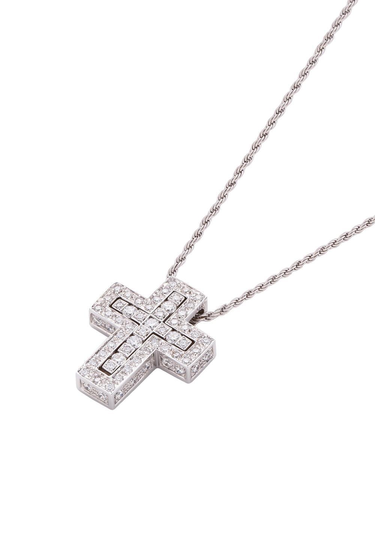 ベル エポック ホワイトゴールド ダイヤモンド ネックレス XSサイズ - #1