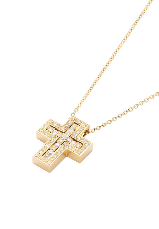 ベル エポック イエローゴールド ダイヤモンド ネックレス XSサイズ - #1