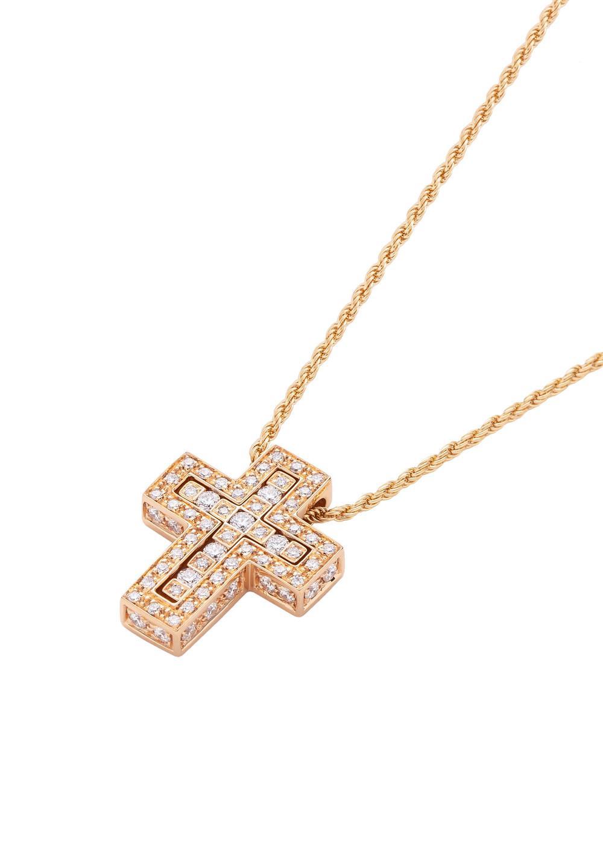 ベル エポック ピンクゴールド ダイヤモンド ネックレス XSサイズ - #1