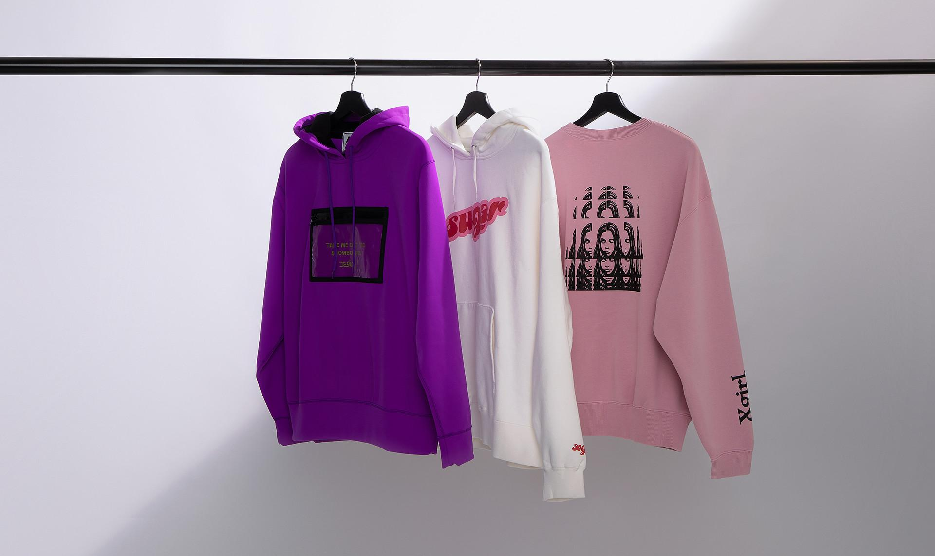 X-girl Hoodie & Cut and Sewn collection