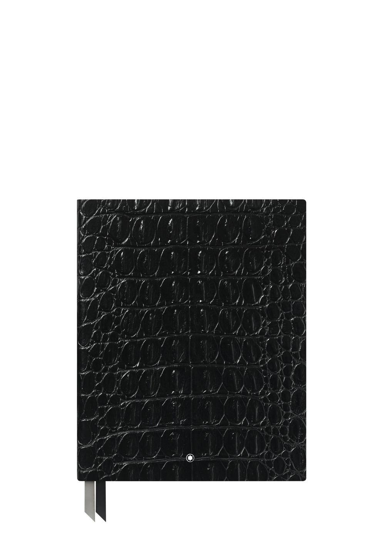 ノートブック #149 クロコプリント シャイニーブラック - #1