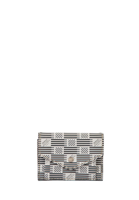 3ツ折財布 モロープリント・ホワイト - #1
