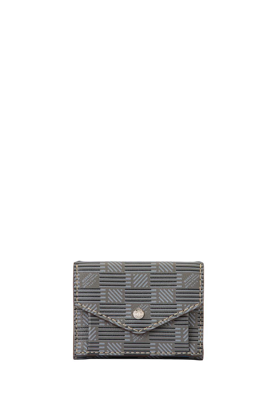 3ツ折財布 モロープリント・グレー - #1