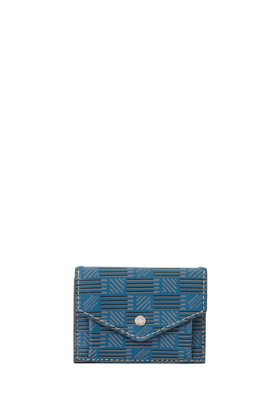 3ツ折財布 モロープリント・ブルー - #1
