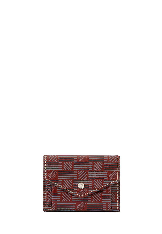 3ツ折財布 モロープリント・ボルドー - #1