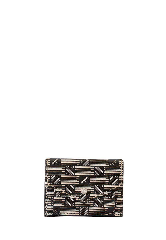 3ツ折財布 モロープリント・ブラックシルバー - #1